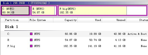 Resize partition in server