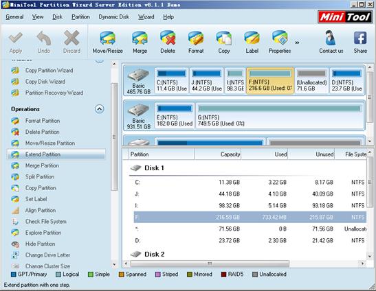raid-5-partition-software-main-interface